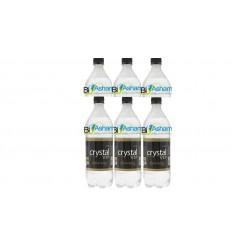 آب گاز دار وی آی پی سودا یک لیتری بدون طعم کریستال