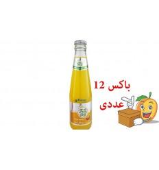 آبمیوه گازدار طعم پرتقال انبه فرش دی باکس 12 عددی