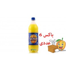 آبمیوه گازدار 1.5 لیتری طعم پرتقال اورنجیا بسته 6 عددی